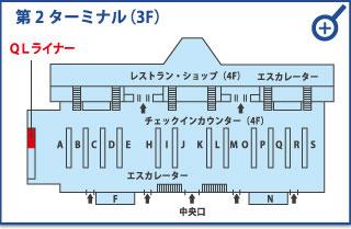 成田空港第2ターミナル(3F)