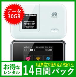 【30GB】【14日レンタルパック】E5372 もしくは E5383