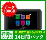 【100GB】【14日レンタルパック】601HW