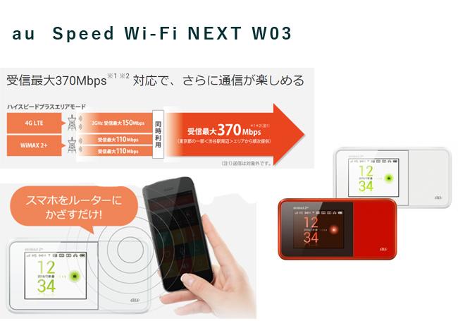 【30日レンタルパック】au NEXT W03説明画像