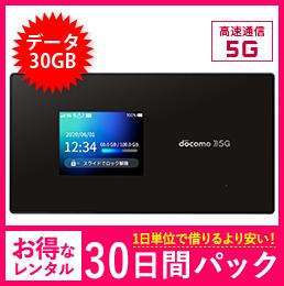 【30GB】【30日レンタルパック】ドコモ SH-52A 5G