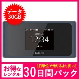 【30GB】【30日レンタルパック】ドコモ HW-01L
