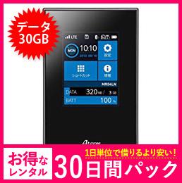 【30GB】【30日レンタルパック】MR04-LN